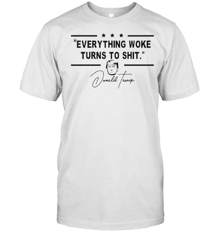 Everything Woke Turns to Shit President Donald Trump 2024  Classic Men's T-shirt