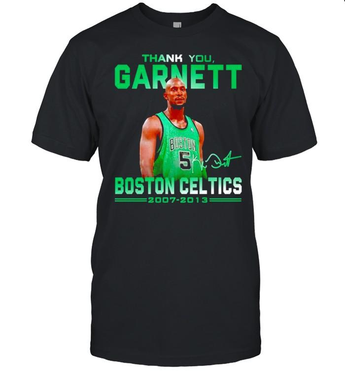 Thank you Garnett Boston Celtics signature shirt Classic Men's T-shirt