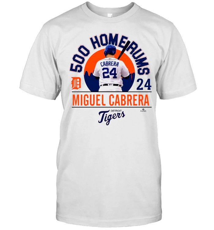 Detroit Tiger 24 Miguel Cabrera MLB Home Run shirt Classic Men's T-shirt