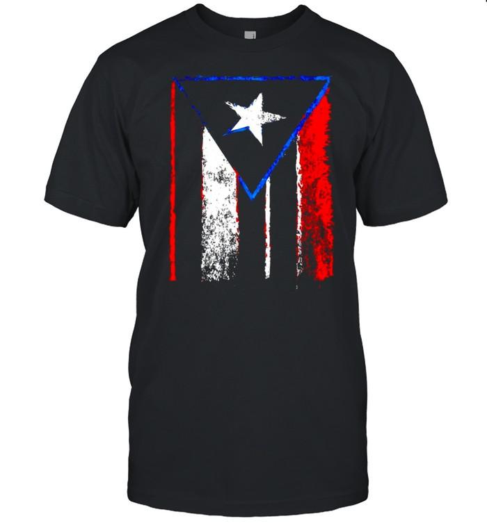 Puerto Rican Spanish Distressed Boricua Painting Taino shirt Classic Men's T-shirt