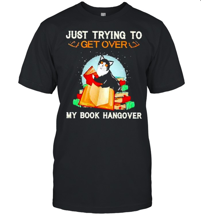 Cats just trying to get over my book hangover shirt Classic Men's T-shirt