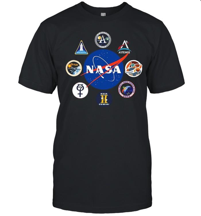 Space Nasa Logo Projects Gemini Crew Patch Mission Badges T-shirt Classic Men's T-shirt