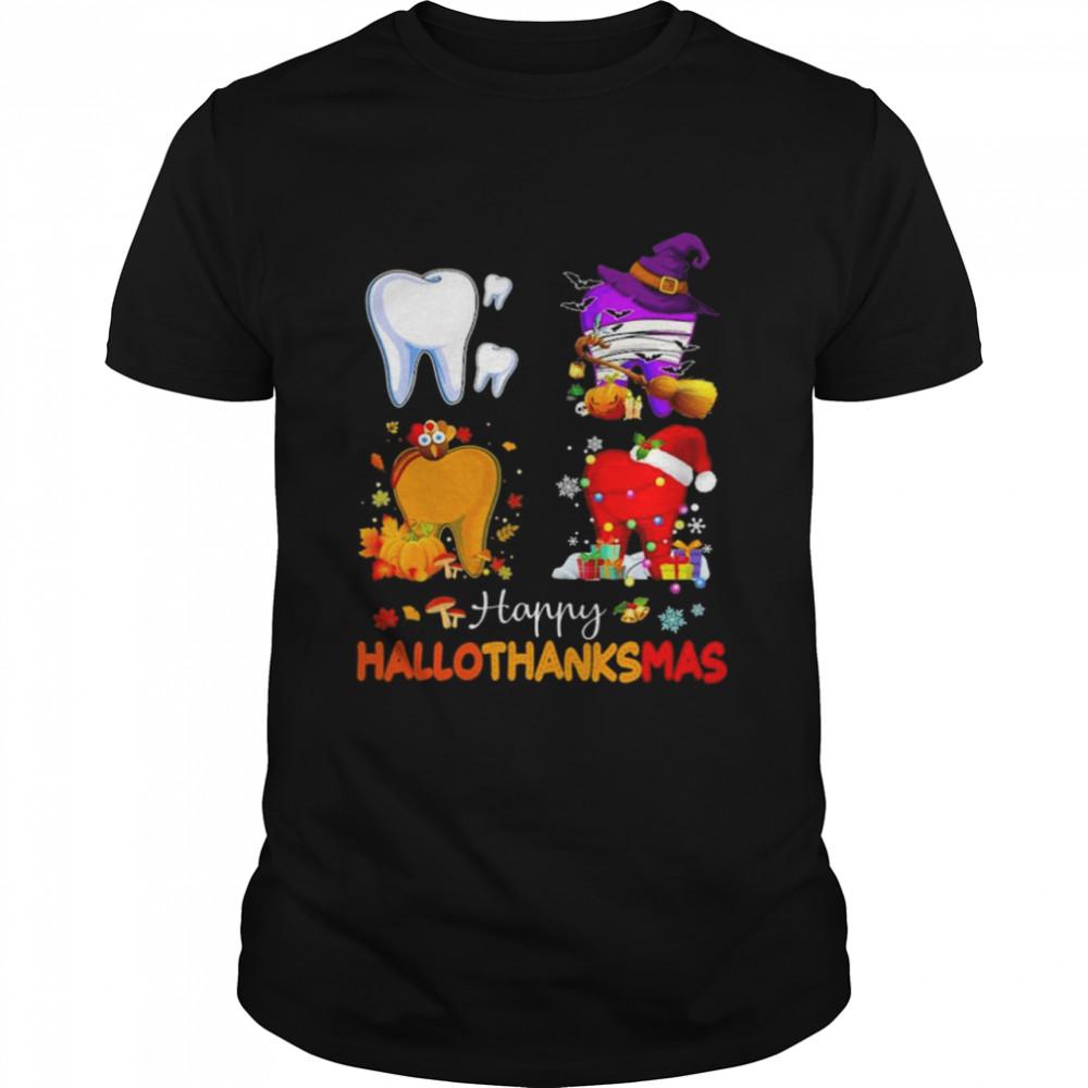 Halloween and Christmas Happy Hallothanksmas shirt
