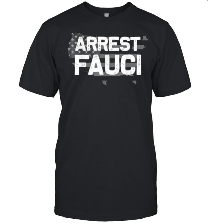 Arrest Fauci patriotic flag Dr Fauci prison T- Classic Men's T-shirt