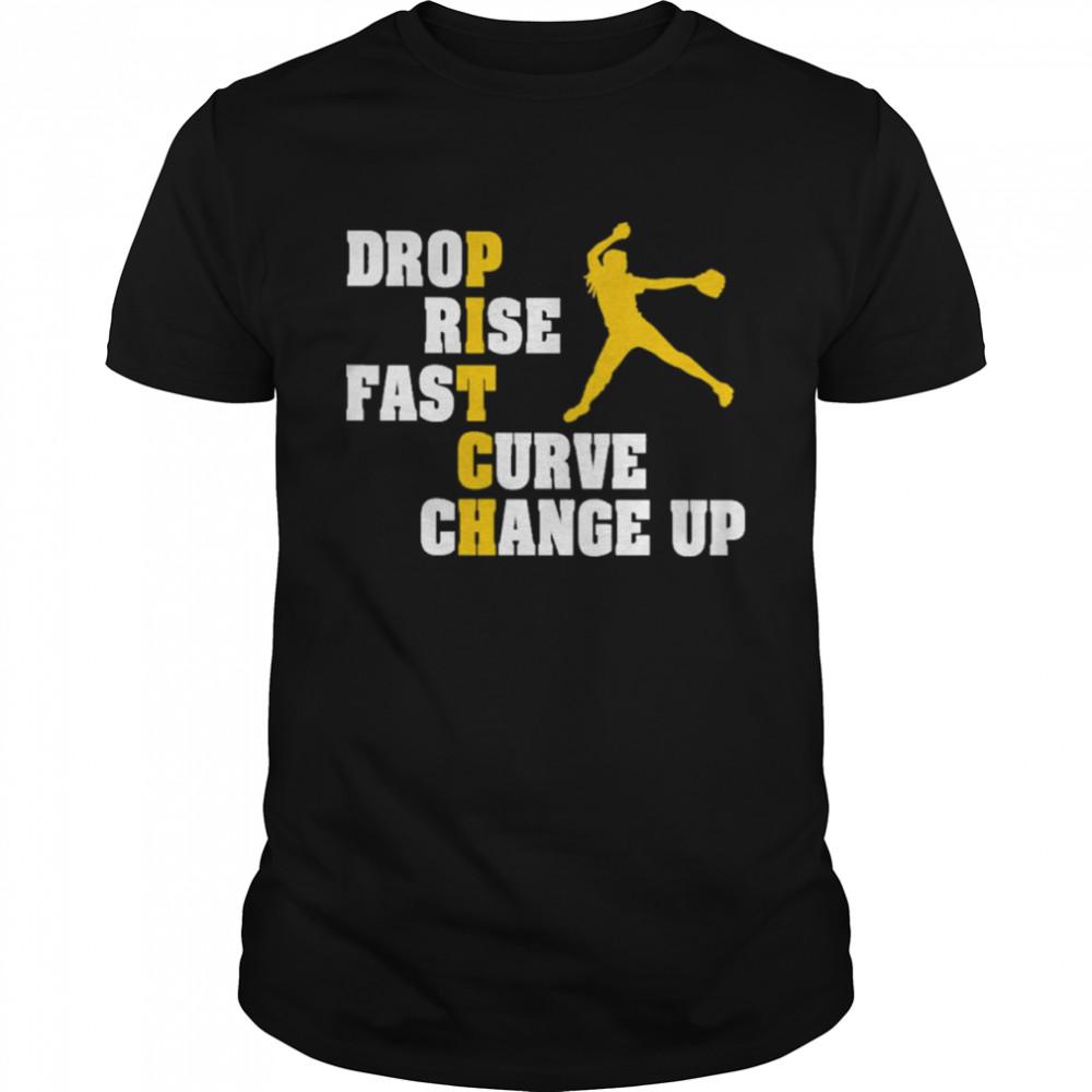 drop Rise Fast Curve Change Up Pitch shirt