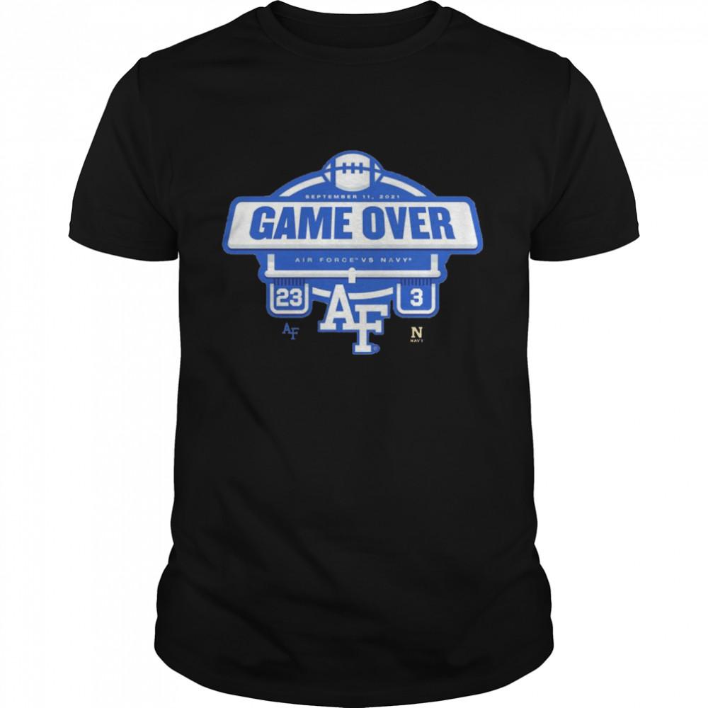 Air Force Falcons vs. Navy Midshipmen 23 3 game over shirt