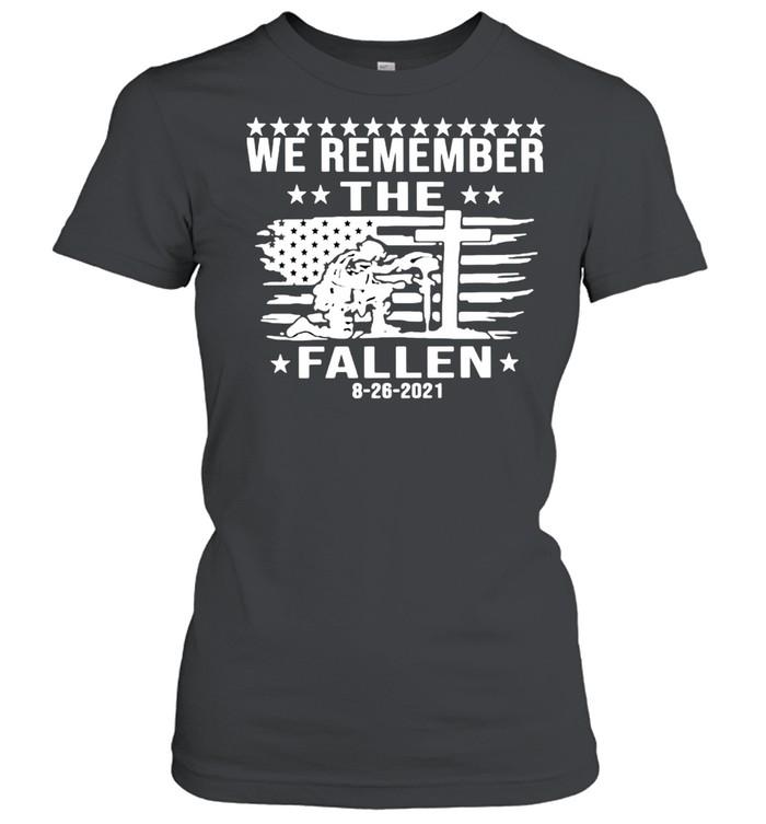 we remember the fallen shirt classic womens t shirt