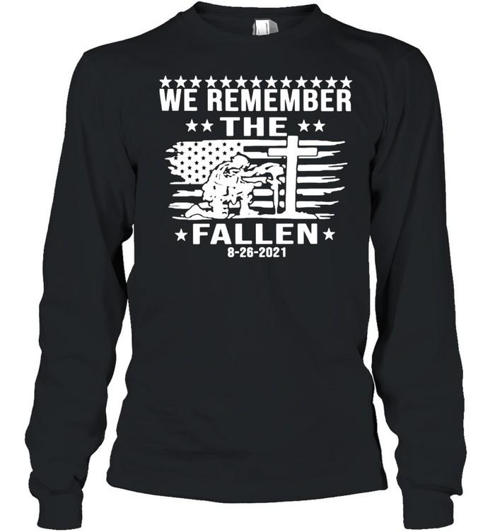 we remember the fallen shirt long sleeved t shirt