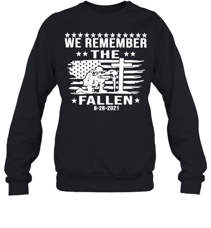 we remember the fallen shirt unisex sweatshirt
