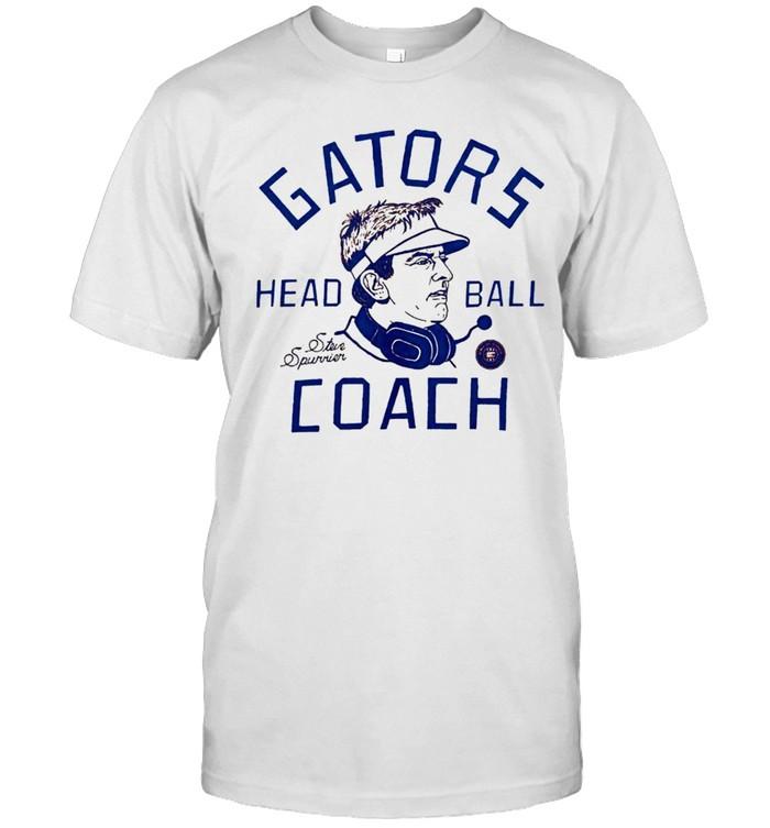 Florida Gators coach Steve Spurrier head ball shirt