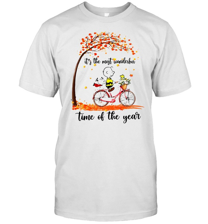 Snoopy And Peanuts It's The Most Wonderful Time Of The Year T-shirt
