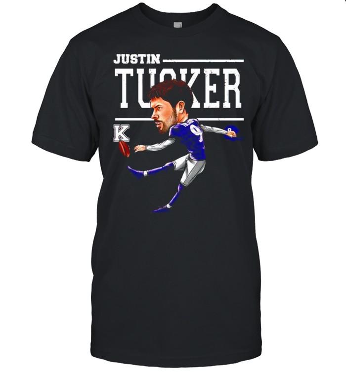 Baltimore Ravens Justin Tucker cartoon shirt