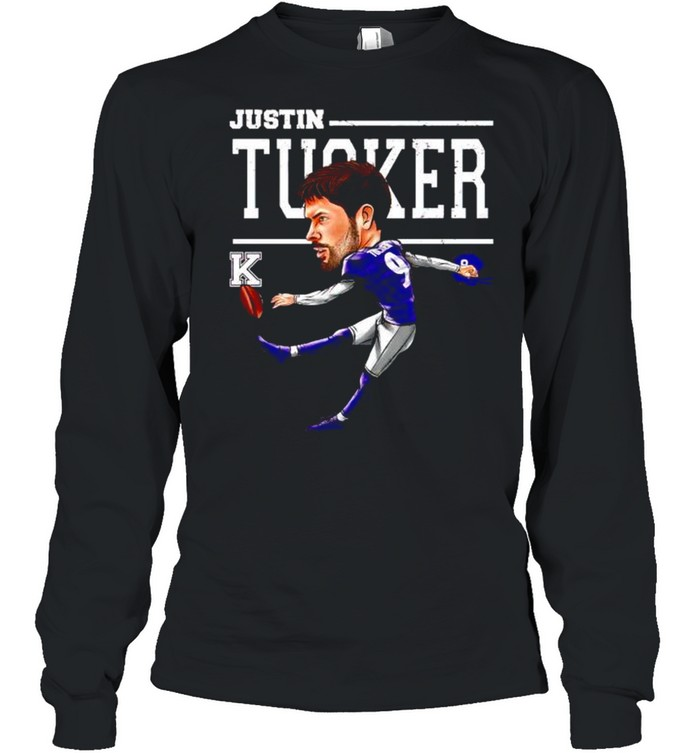 baltimore ravens justin tucker cartoon shirt long sleeved t shirt