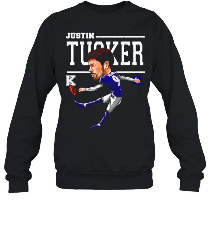 baltimore ravens justin tucker cartoon shirt unisex sweatshirt