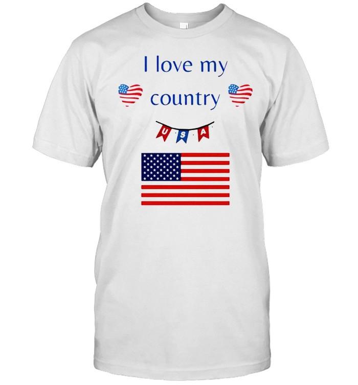 I love my country USA shirt