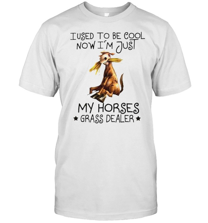 I used to be cool now I'm just my horses grass dealer shirt