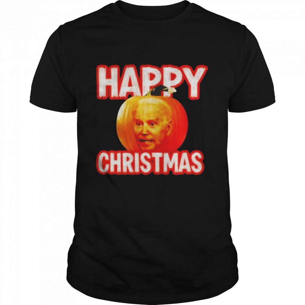 Biden pumpkin Happy Christmas Halloween shirt