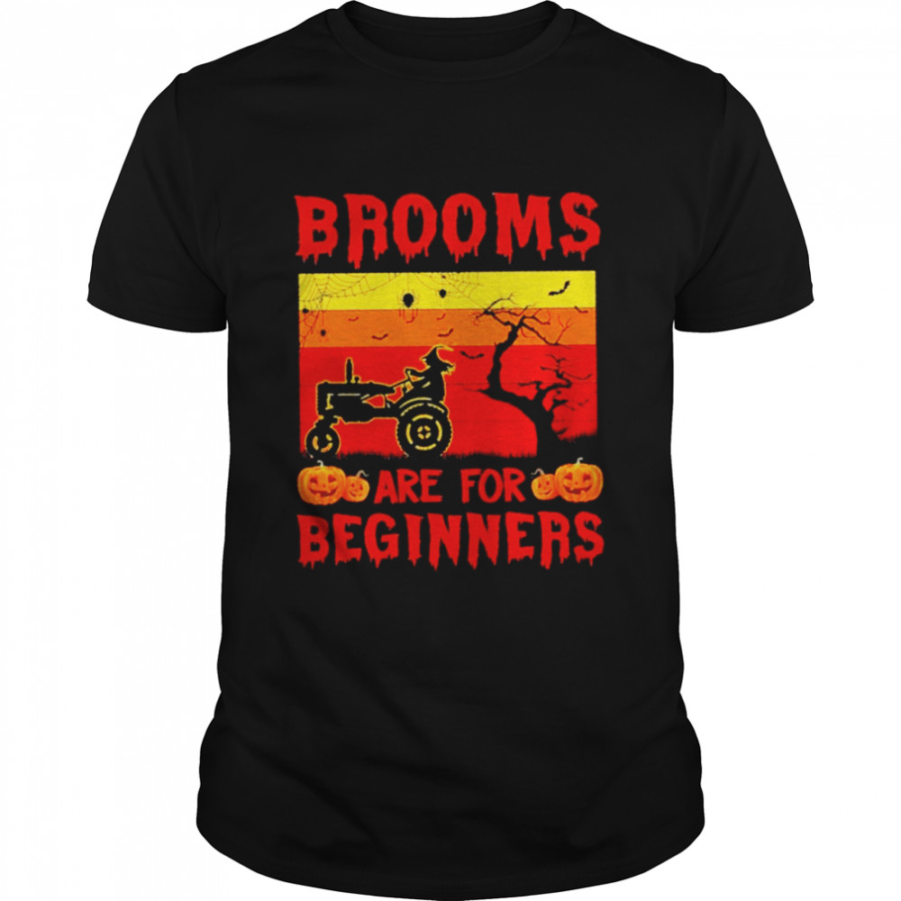 Brooms are for beginners Halloween vintage shirt Classic Men's T-shirt