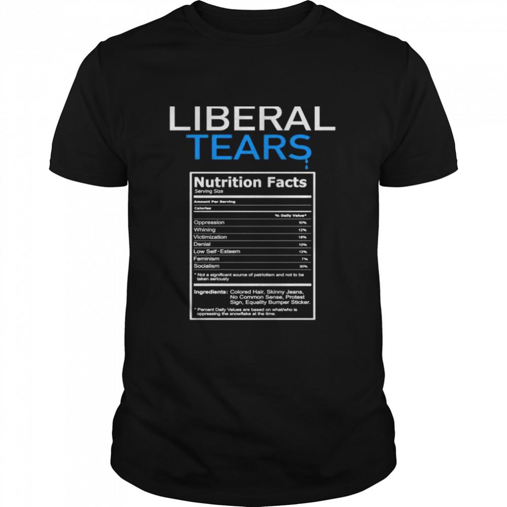 Liberal Tears Anti Liberal Pro Trump Republikanisches Geschenk Shirt