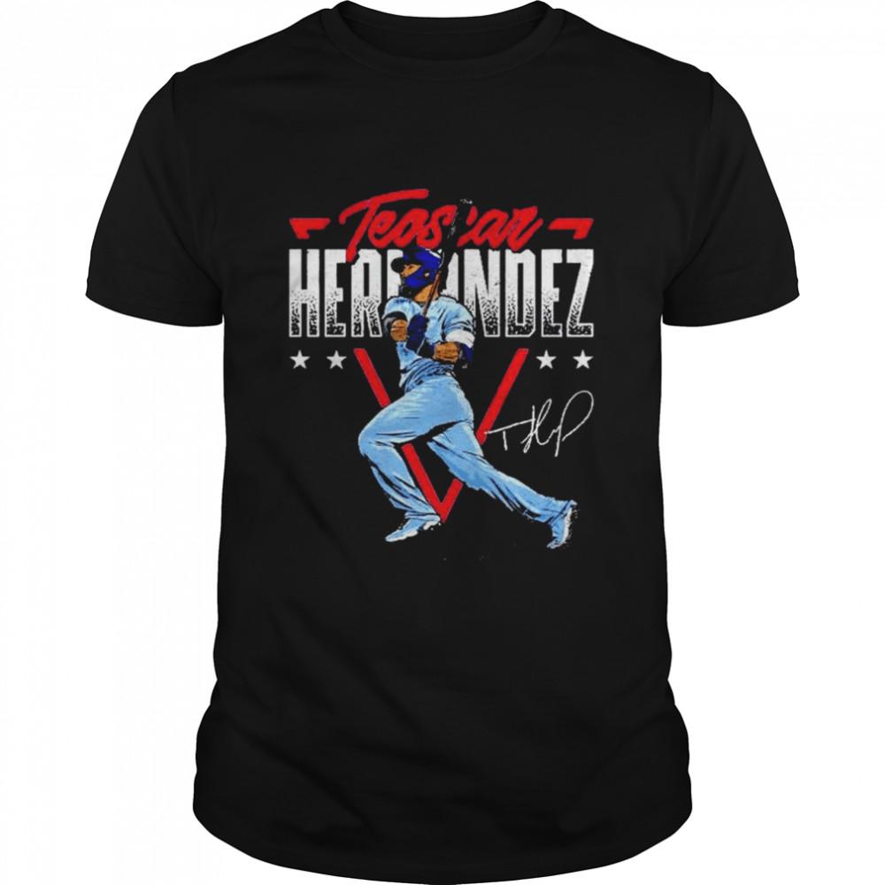 Toronto Blue Jays Teoscar Hernandez triangle name signature shirt