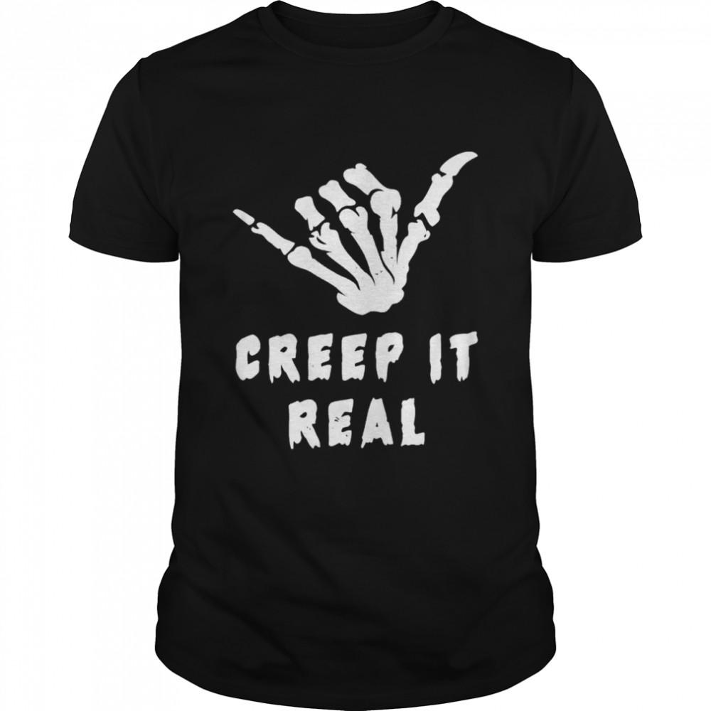 Skeleton creep it real shirt Classic Men's T-shirt