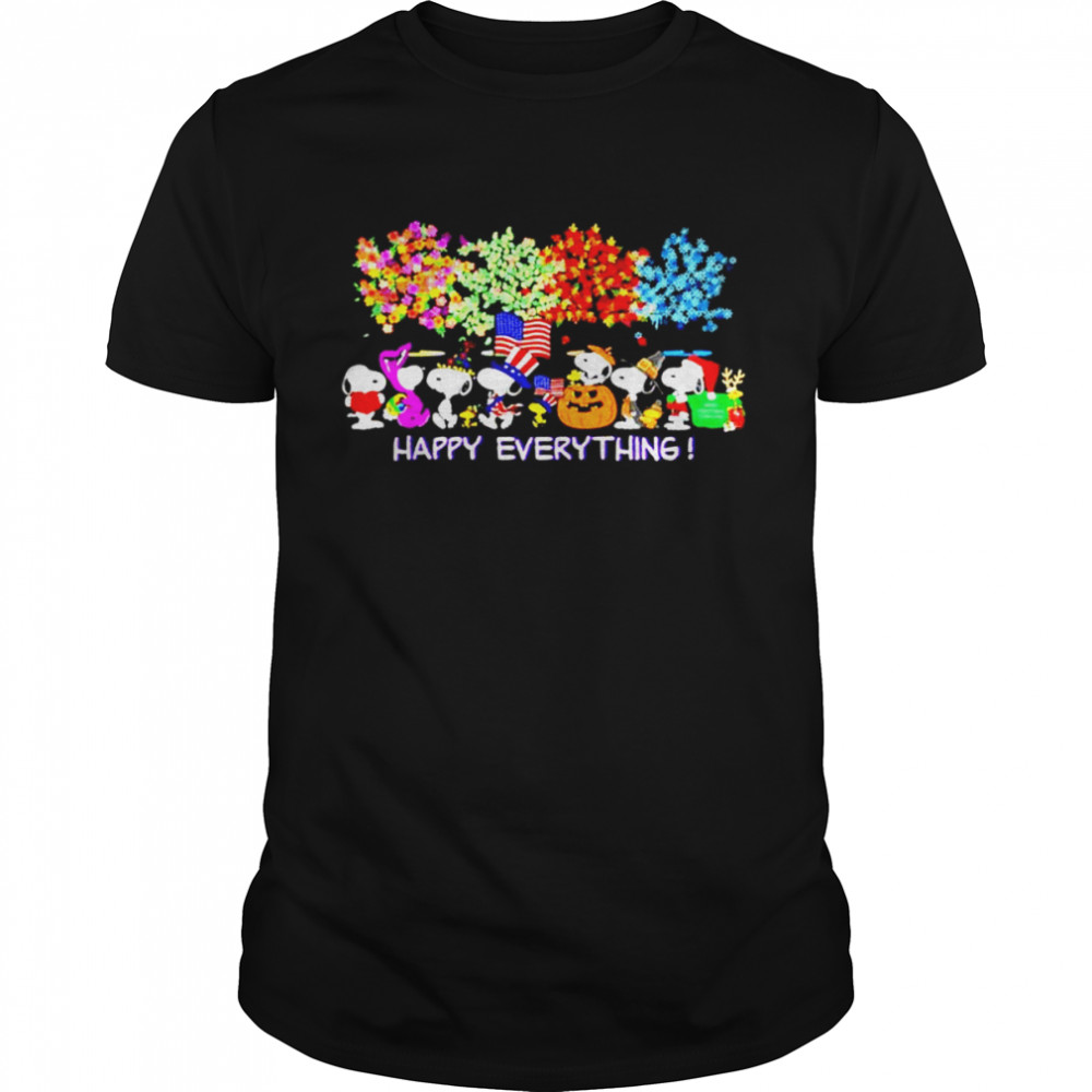 Snoopy St Patrick's day Halloween Thanksgiving Christmas happy everything shirt