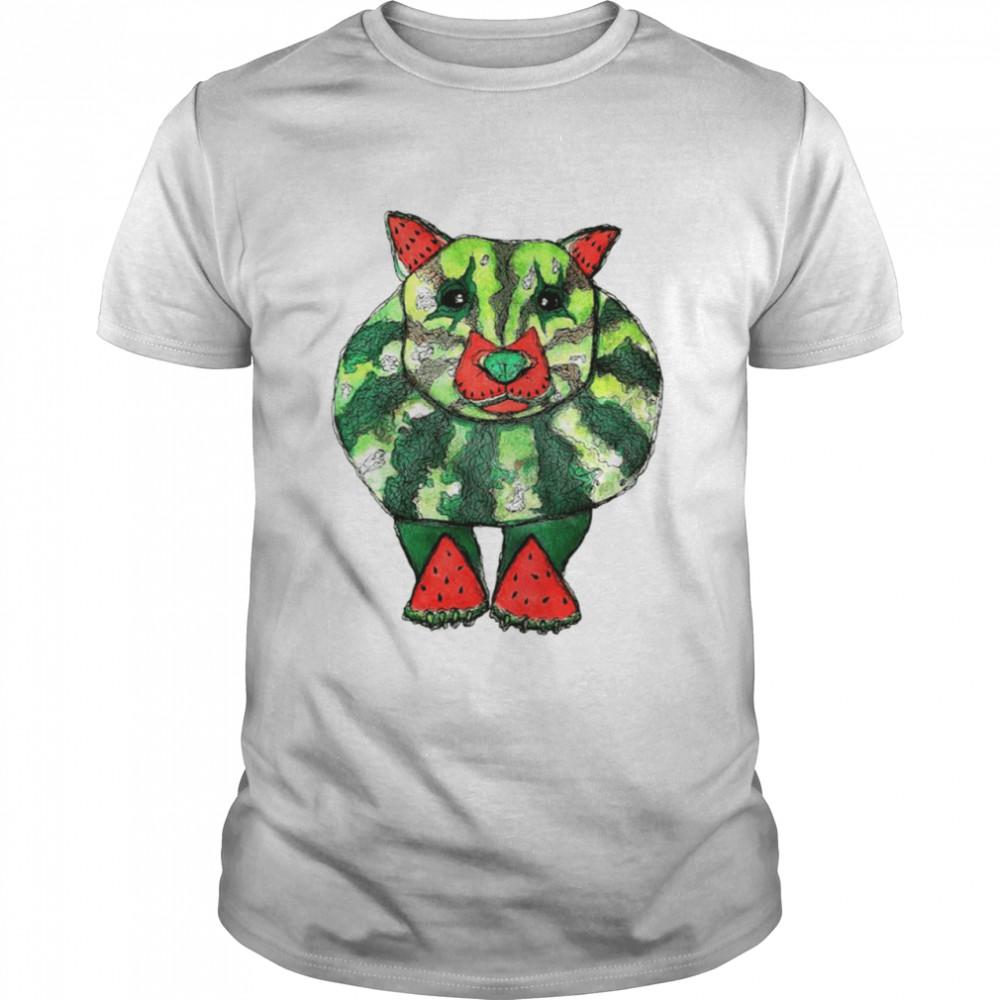 Watermelon Wombat dog mashup shirt