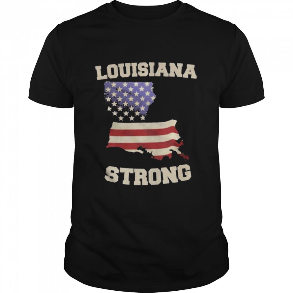 louisiana Strong Louisiana Map shirt