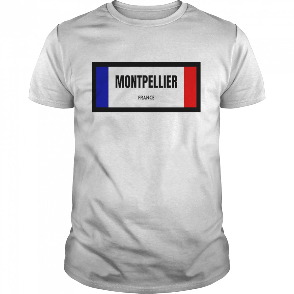 Montpellier city in French flag shirt