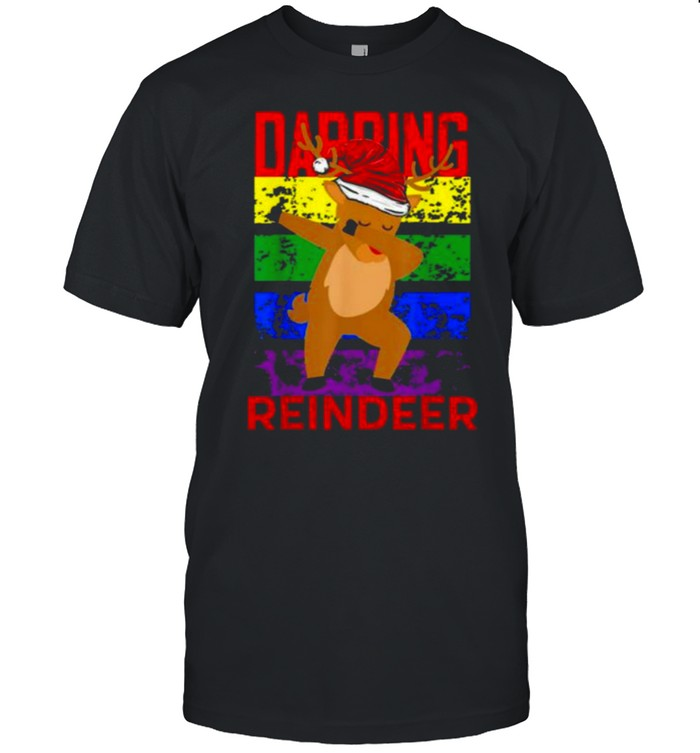Dabbing Reindeer Merry Christmas 2021 Shirt