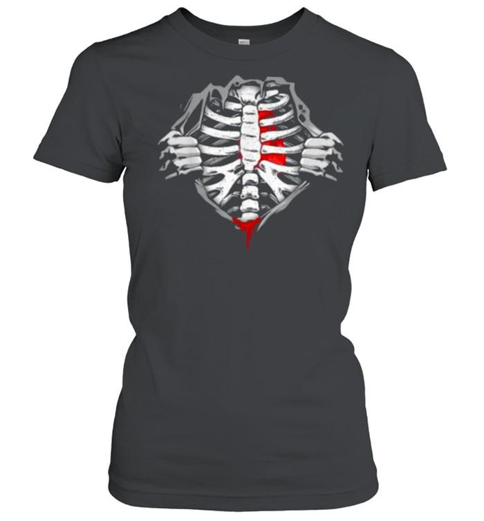 Halloween Skeleton Ribcage Zombie Costume Tee  Classic Women's T-shirt