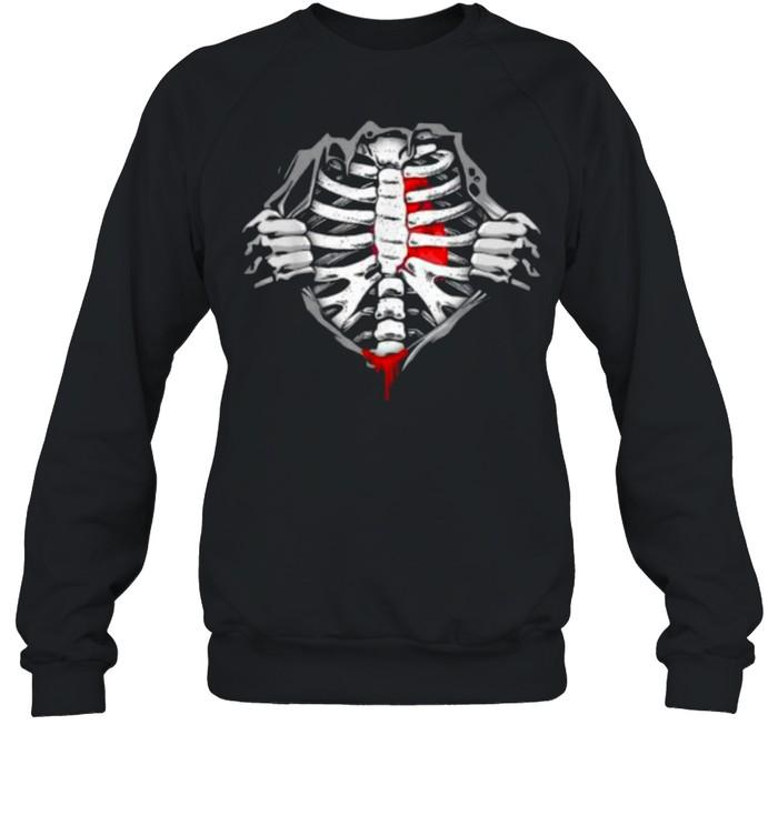 Halloween Skeleton Ribcage Zombie Costume Tee  Unisex Sweatshirt