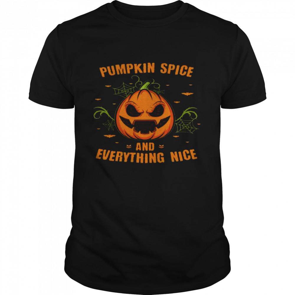 Pumpkin Spice & Everything nice Halloween Party Shirt