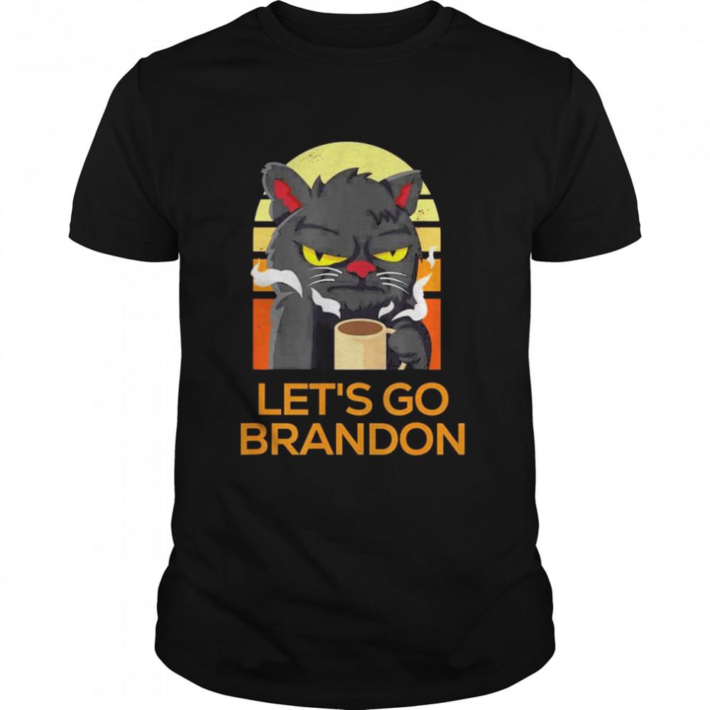 Lets Go Brandon Angry Cat Pro USA Anti Joe Biden Vintage shirt